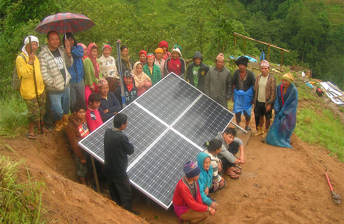Solar water lifting